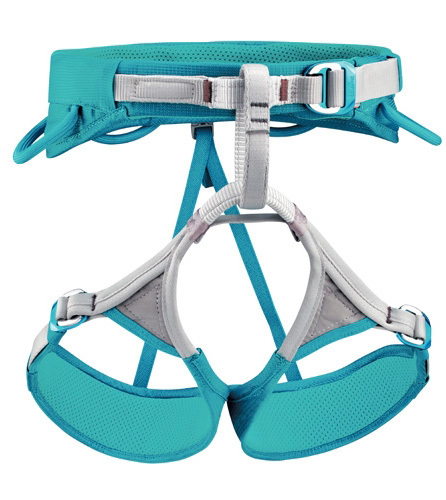 The adjustable leg loops of the LUNA harness make it an ideal piece of equipment for mountaineering and ice climbing.