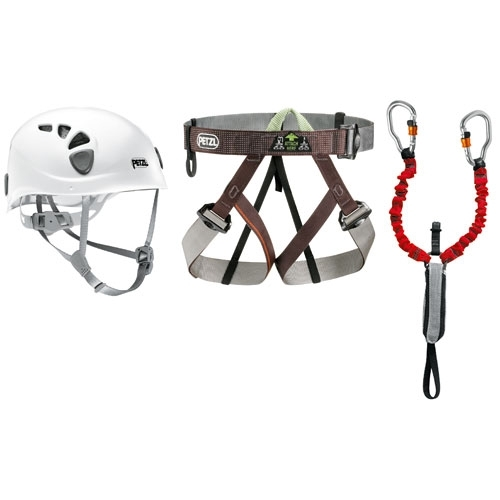 The Petzl Via Ferrata kit is composed of products specifically designed for via ferrata.