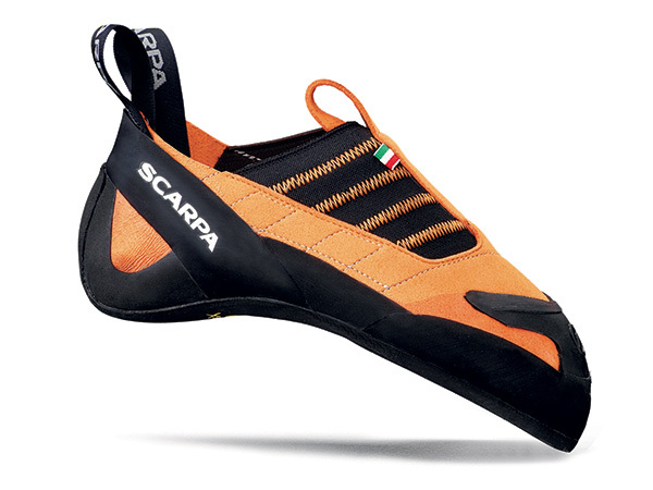 Rock climbing shoe Instinct S by Scarpa for sport climbing, bouldering, indoor climbing.