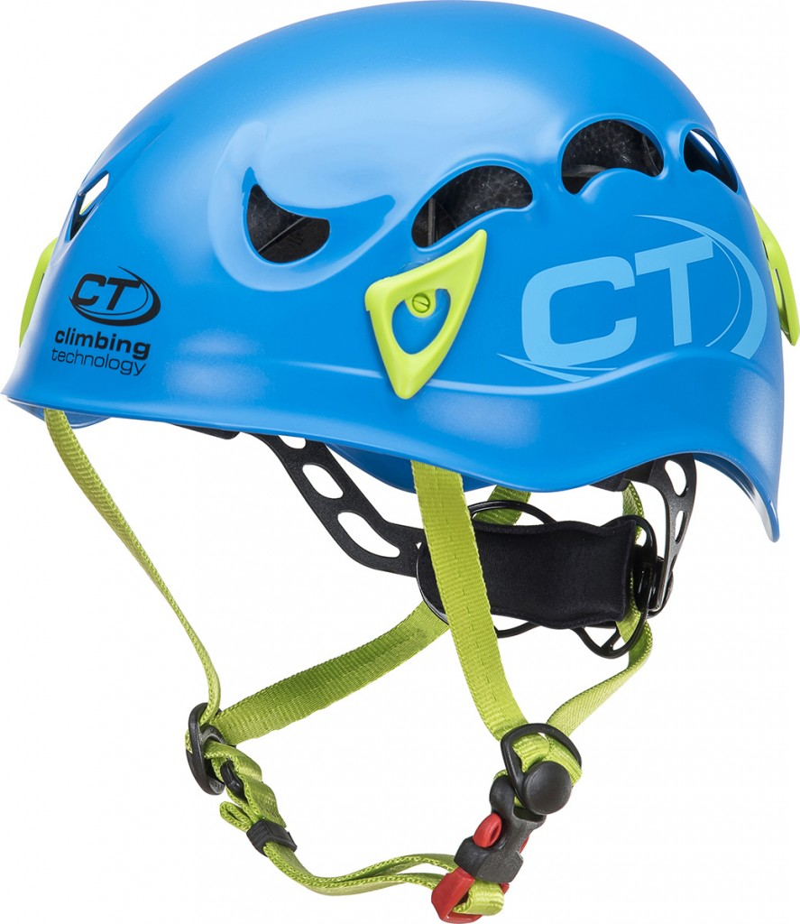 Climbing Technology Galaxy, an all-round helmet designed for mountaineering, ice climbing, sport climbing and via ferrata.