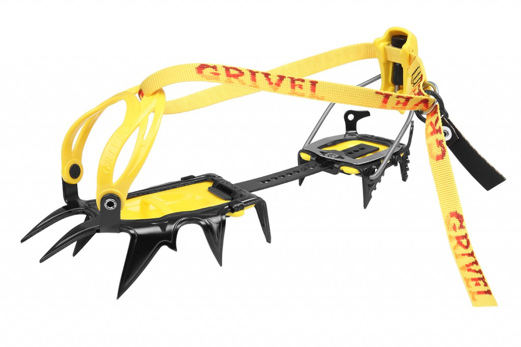 Mountaineering crampons G12: a classic 12-point crampon designed for general mountaineering, alpinism, mixed ice climbing, rock climbing, and moderate waterfall routes.