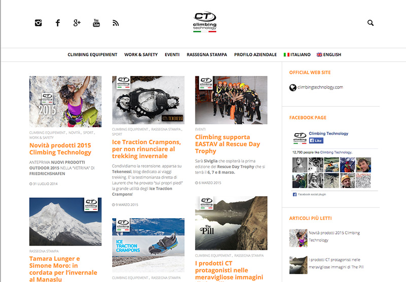 CT Climbing Technology cerca figura Social Media Marketing & Web