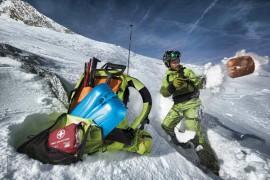 Salewa: lo zaino Taos 28 PRO avvolge lo sciatore in un abbraccio sicuro