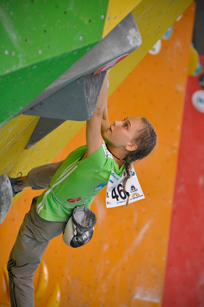 Janja Garnbret campionessa europea giovanile di boulder!
