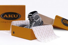 Nuovo packaging ecologico per le calzature AKU