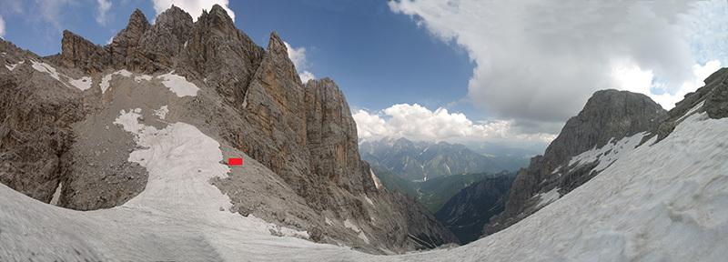 Panoramica verso nord, dalla Cresta degli Invalidi verso forcella Marmarole e la Val Baion Photo by © Fondazione Architettura Belluno Dolomiti
