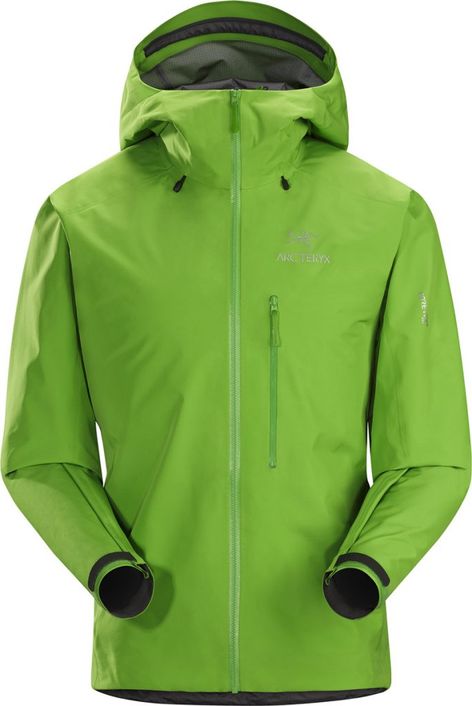 The mountaineering jacket Alpha FL Jacket Men's is the lightest GORE-TEX Pro jacket for climbing and alpinism by Arc'teryx.