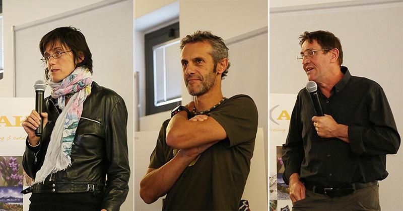 I tre vincitori (da sx a dx): Simonetta Radice, Emilio Previtali e Giorgio Madinelli durante la premiazione di sabato 10 ottobre a Belluno