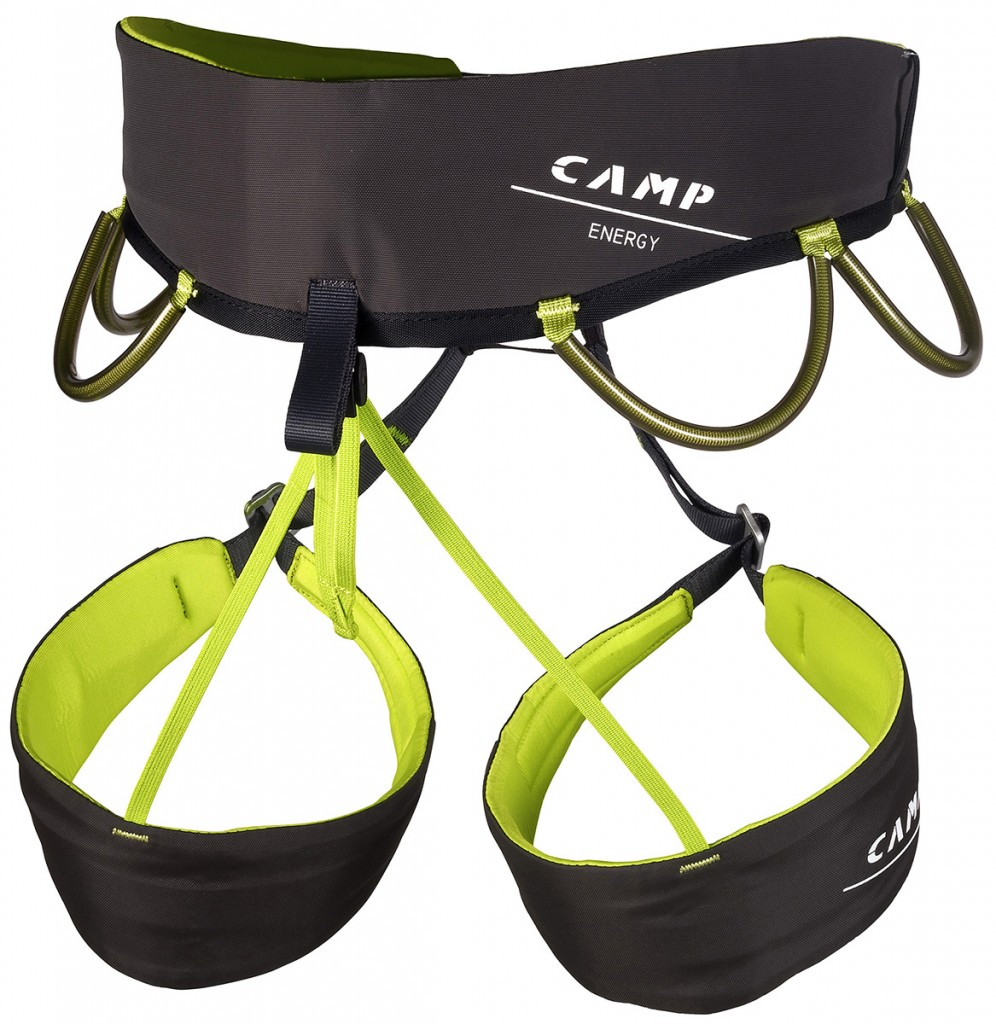 The CAMP Energy is a sophisticated and versatile rock climbing harness.