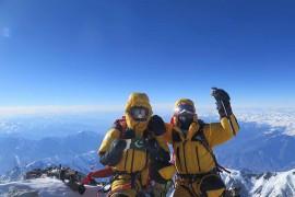 Ali Sadpara e Simone Moro in cima al Nanga Parbat il 26/02/2016