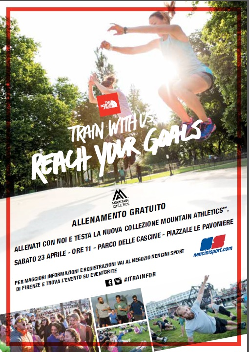 "The North Face invita gli appassionati di sport all'aria aperta al ""Mountain Athletics training"" di Firenze il 23 aprile."