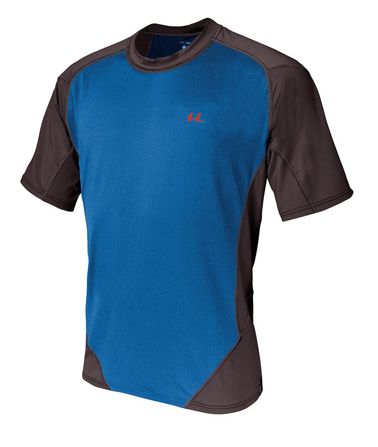 T-shirt polivalente e leggera in tessuto Coolmax a nido d'ape