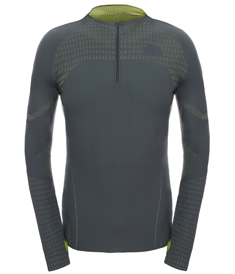 Kanagata Long Sleeve: warp knit technology and ultrasonic bonding make this the first truly seamless clothing from The North Face