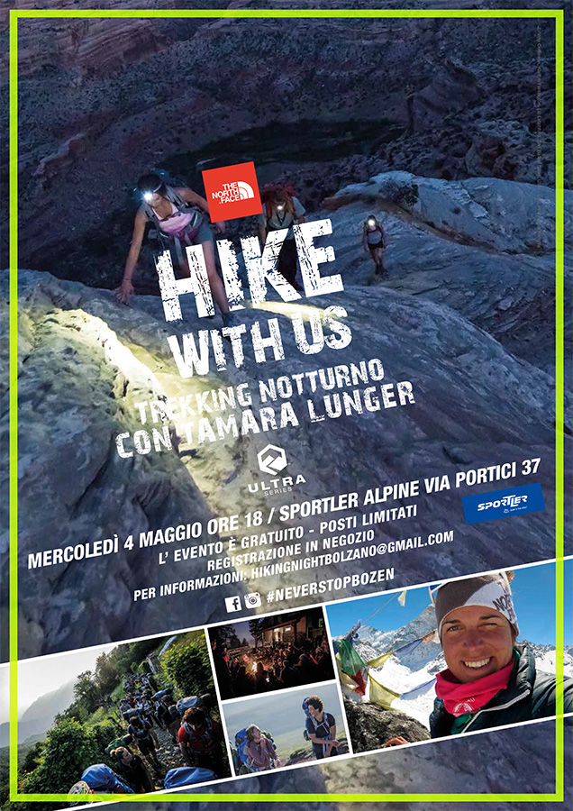 Hiking Night con Tamara Lunger - appuntamento con The North Face a Bolzano il 4 maggio