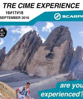 Tre Cime Experience by Scarpa® meno di due mesi al weekend dedicato al mondo Trail al cospetto delle Tre Cime di Lavaredo. Dal 16 al 18 settembre, Auronzo Vertical Contest, Cadini Sky Race e Misurina Sky Marathon.