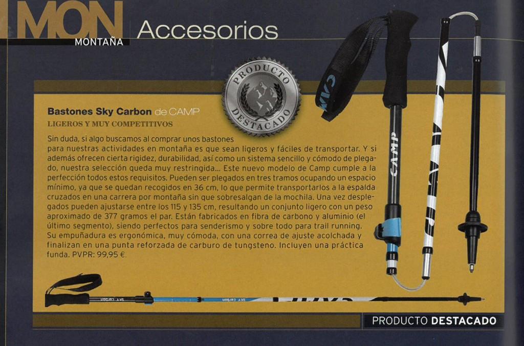 Importante riconoscimento internazionale per il nuovo bastoncino Sky Carbon, che ha ottenuto il Silver Award 2016 della prestigiosa rivista spagnola Desnivel