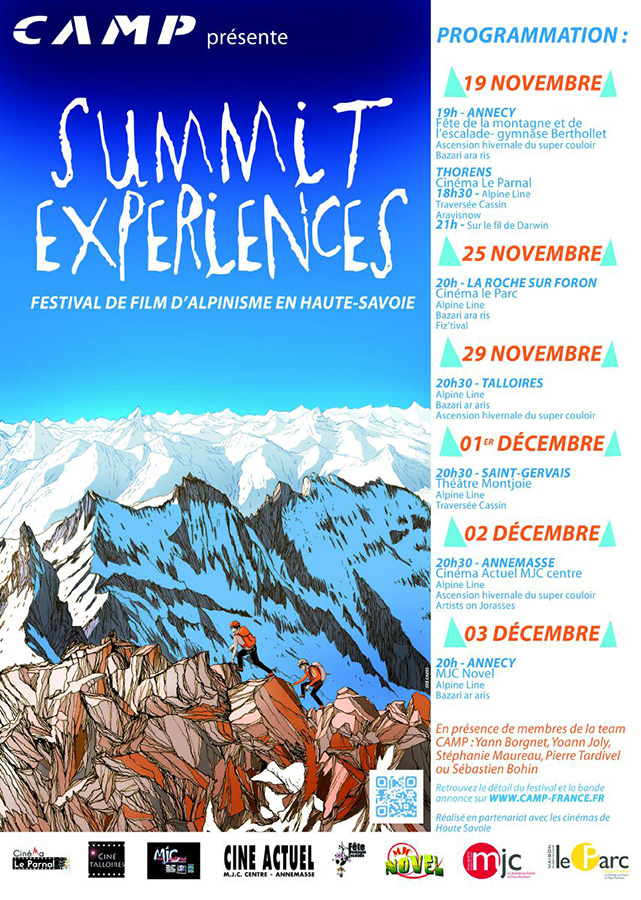 C.A.M.P. presents Summit Experiences, the Haute-Savoie mountain film festival with our French athletes