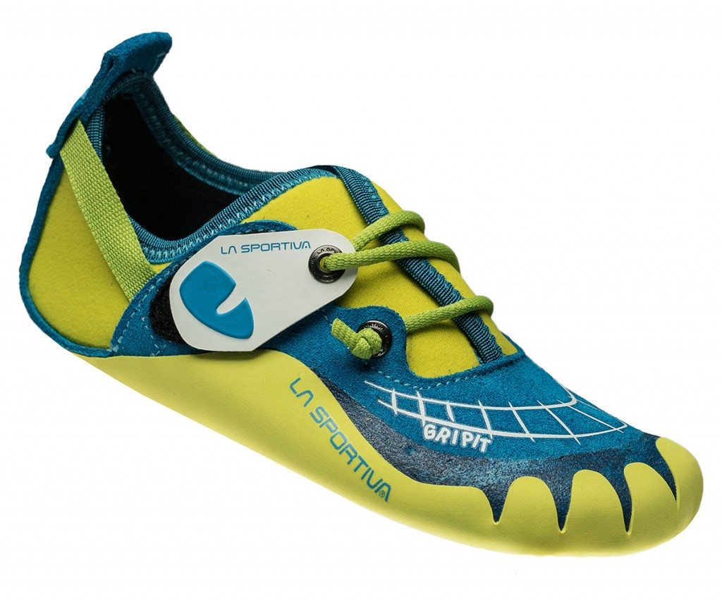 La Sportiva Gripit, a climbing shoe for children with No-Edge® technology.