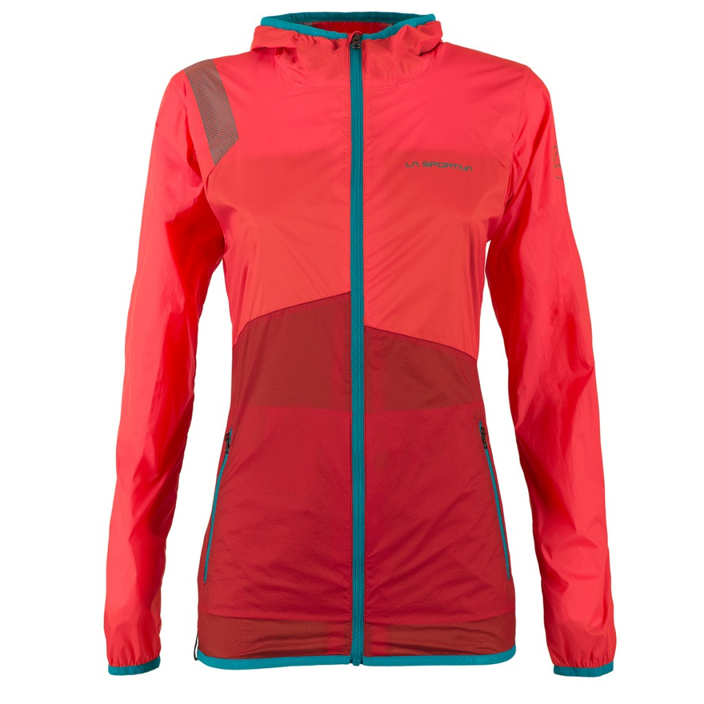 La Sportiva Creek JKT W is a wind jacket ideal for multi-pitch rock climbing, but also as a protective piece on windy days.
