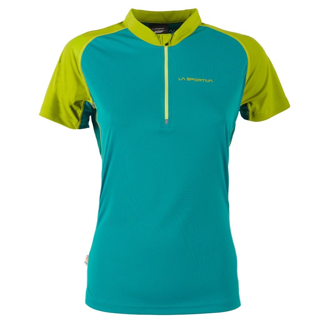 T-Shirt da trail running per lei con apertura frontale a zip.