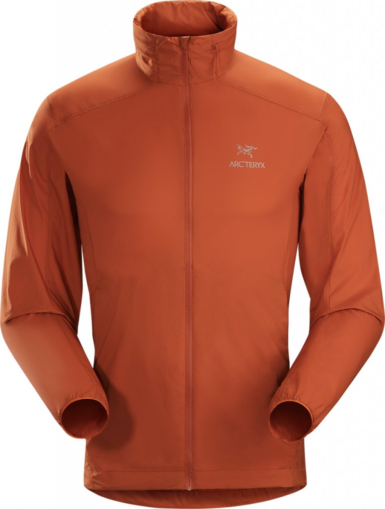Nodin Jacket is a lightweight windshell jacket that provides weather resistance for hiking and trekking.