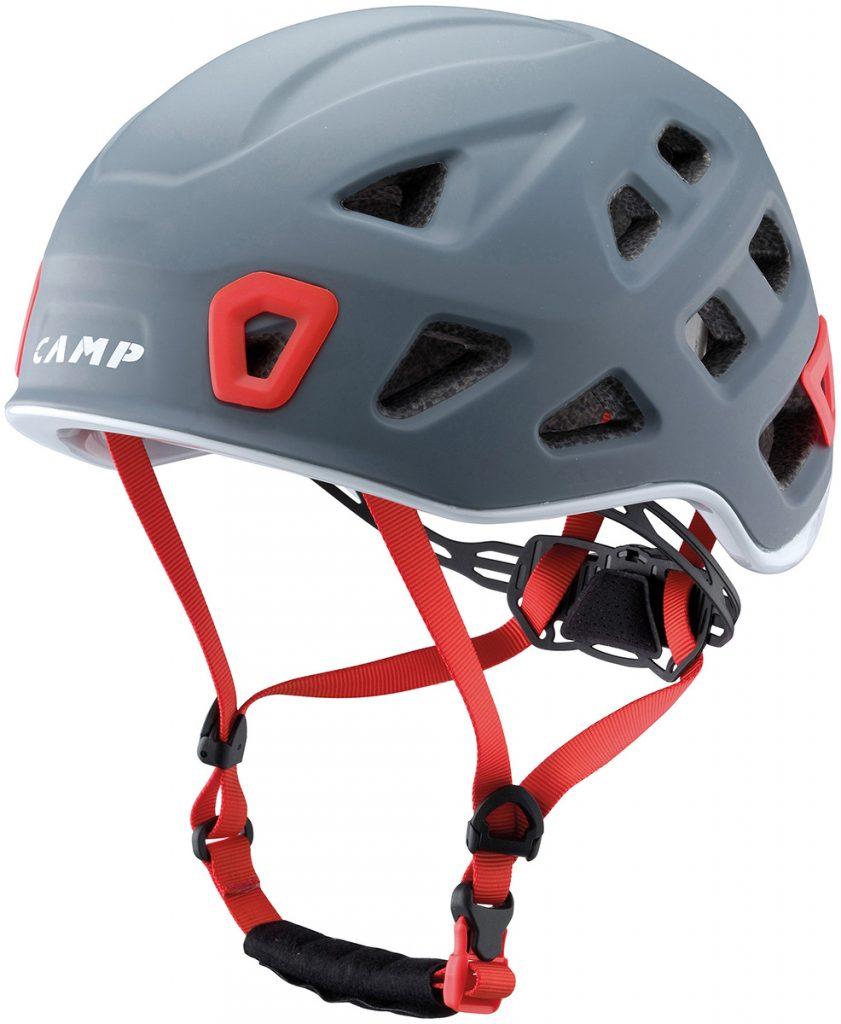 Storm climbing helmet.
