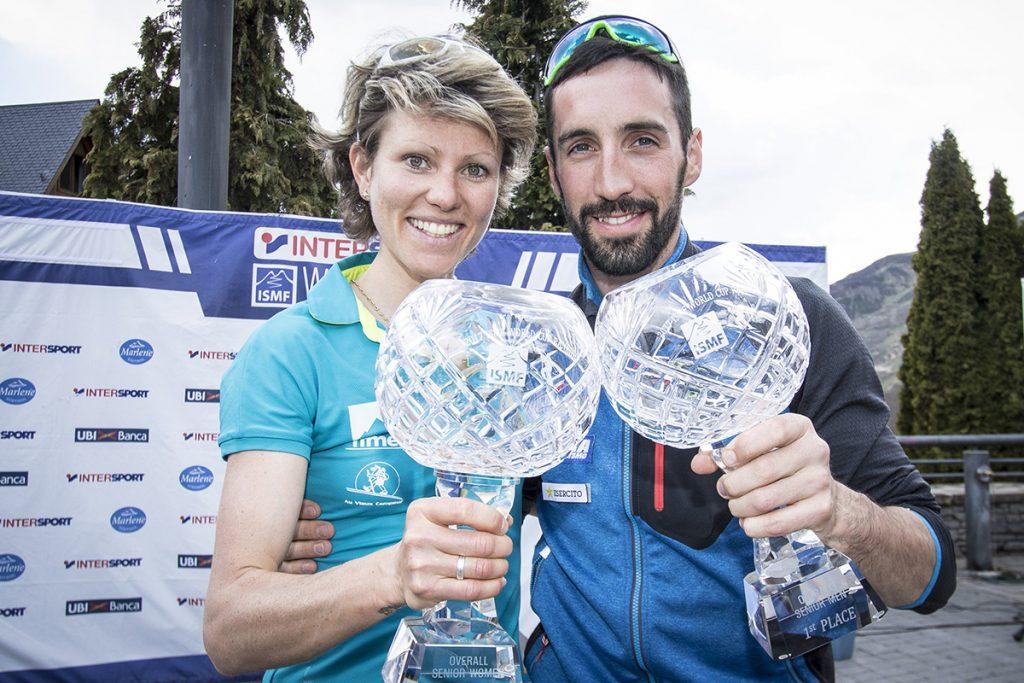 Robert Antonioli, insieme a Laetitia Roux, con la Coppa del Mondo di scialpinismo 2017