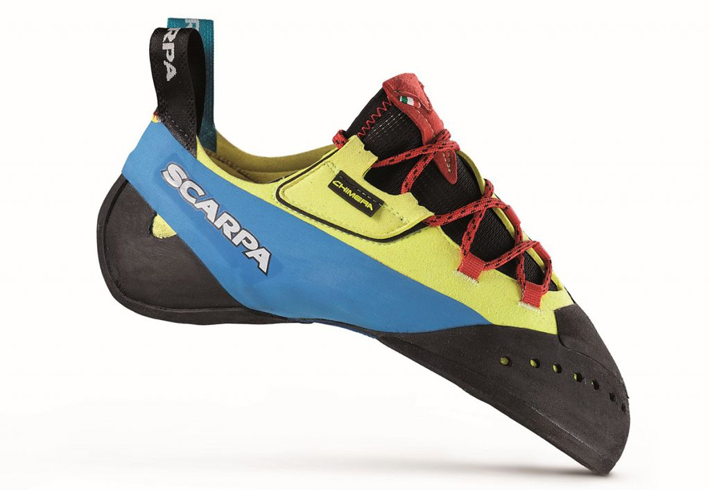 The new climbing shoe Chimera by Scapra, ideal for bouldering