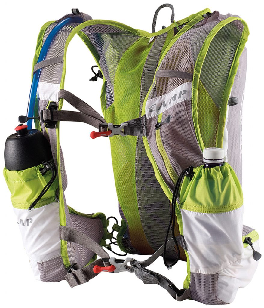 The Trail Vest Light by CAMP is a lightweight trail running pack designed for races and fast running