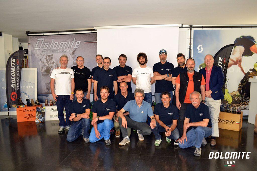 Il Team Guide Alpine Dolomite 2017 è stato presentato nella sede di SCOTT Italia il 18 maggio 2017
