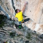 Andrea Ratti sends Pumping iron 7c at Cengia Giradili crag in Sardinia - Ph. Riky Felderer