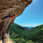 Luca Passini sends Cuzzetrummolo 7c at the Palinuro crags in Southern Italy - Ph. Michele Caminati