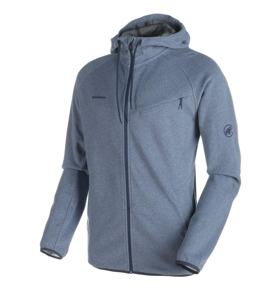 La giacca con cappuccio Mammut Logo ML Hooded Jacket è ideale per arrampicata boulder, traspirabile e con fleece interno.
