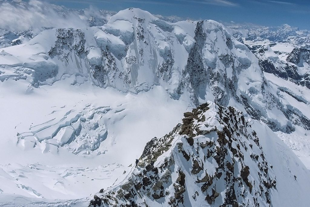 Ski mountaineering: Beni Hug and Tony Sbalbi have climbed Dufour Peak and Mont Blanc, the highest mountains in Switzerland and France, in one tour