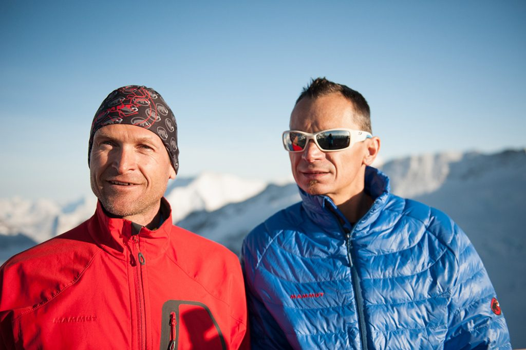 Beni Hug and Tony Sbalbi have climbed Dufour Peak and Mont Blanc, the highest mountains in Switzerland and France, in one single push