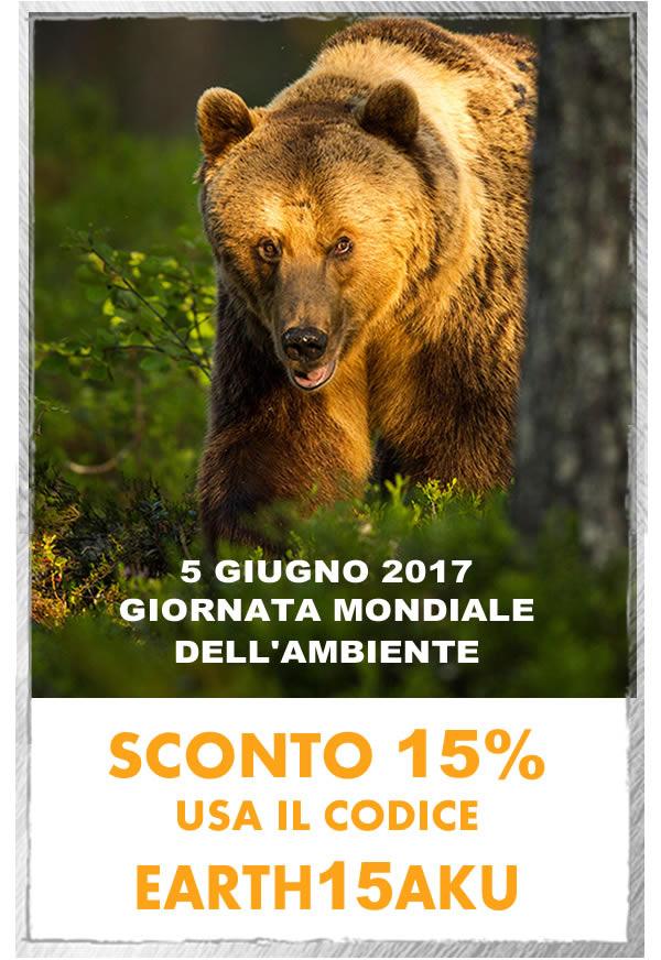 Earth Day 2017 - AKU festeggia la Giornata mondiale dell'ambiente con uno speciale SCONTO del 15% su tutta la collezione! La promozione è valida solo fino al 5 giugno 2017