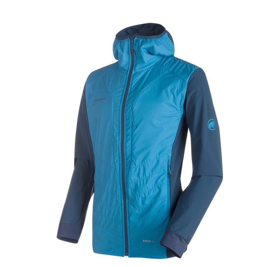 Innovative lightweight water repellent mountaineering jacket Foraker In Light Hooded Jacket by Mammut