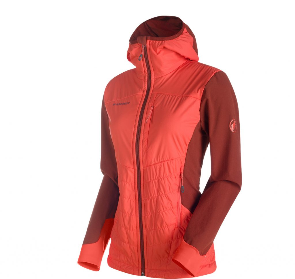 Foraker In Light Hooded Jacket Woman by Mammut is an iInnovative lightweight water repellent mountaineering jacket.