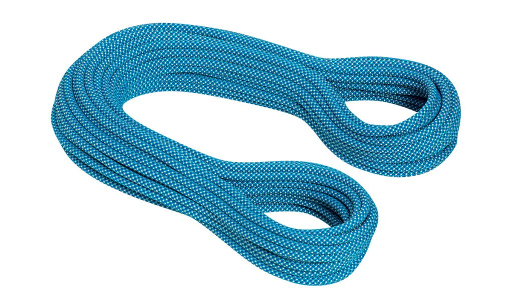 Single climbing rope Mammut Infinity Classic 9.5mm for sport climbing and indoor gym climbing.