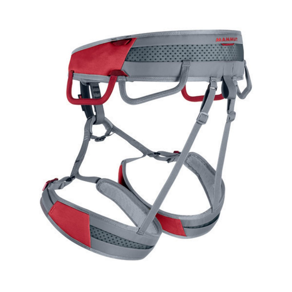 Adjustable rock climbing harness Mammut Ophir Speedfit, lightweight and versatile, ideal for climbing and alpinism.