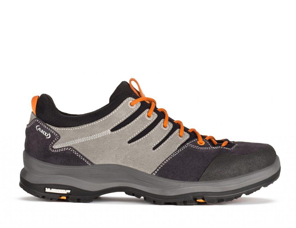 Scarpa leggera da montagna Montera Low GTX di AKU, molto versatile. ideale su terreni facili o di media difficoltà con suola Michelin.