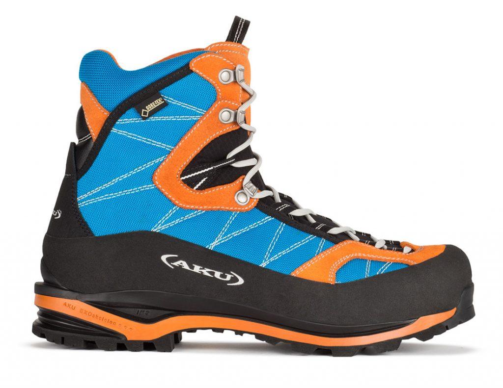 Calzatura alpinistica Tengu GTX di AKU semi ramponabile, leggera e performante ideale per alpinismo, arrampicata di misto e trekking di avvicinamento.