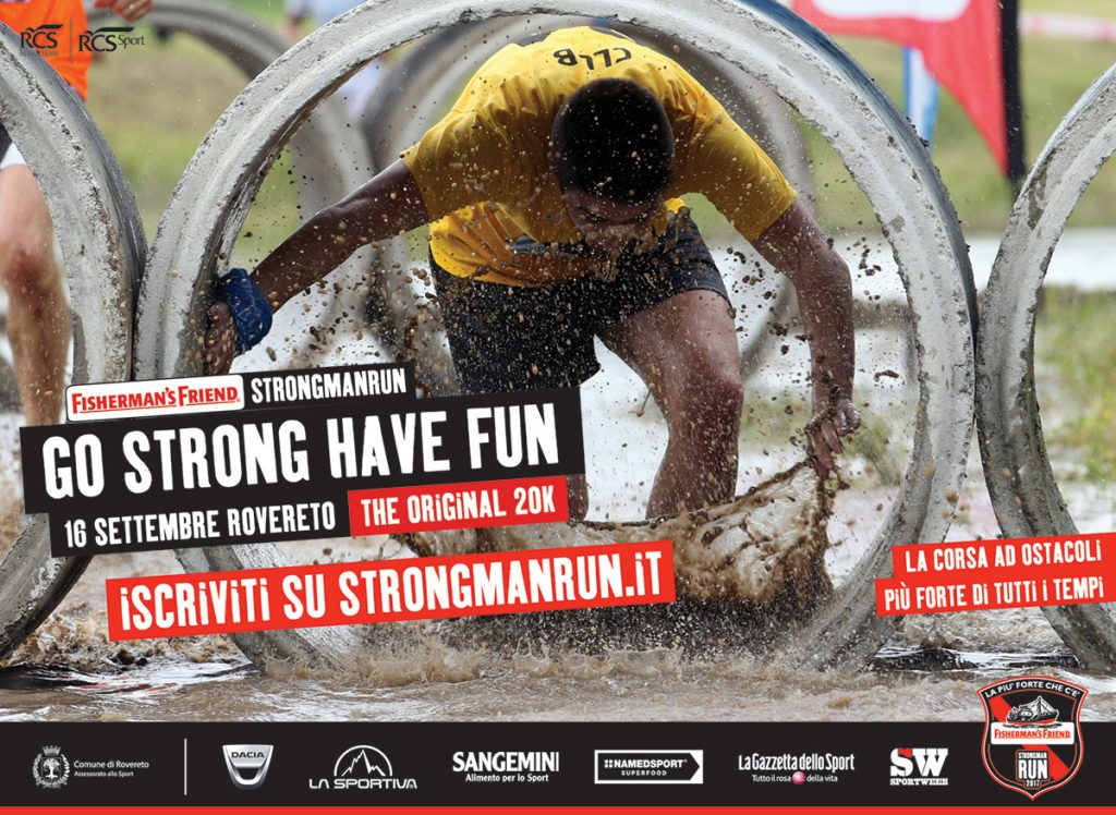 "The partnership between La Sportiva, the company from Ziano di Fiemme and Fisherman's Friend StrongmanRun, the hardest and most entertaining obstacle race of the moment, which will take place in Rovereto on September 16 in its 20km ""Original"" version, has been officially formalized."