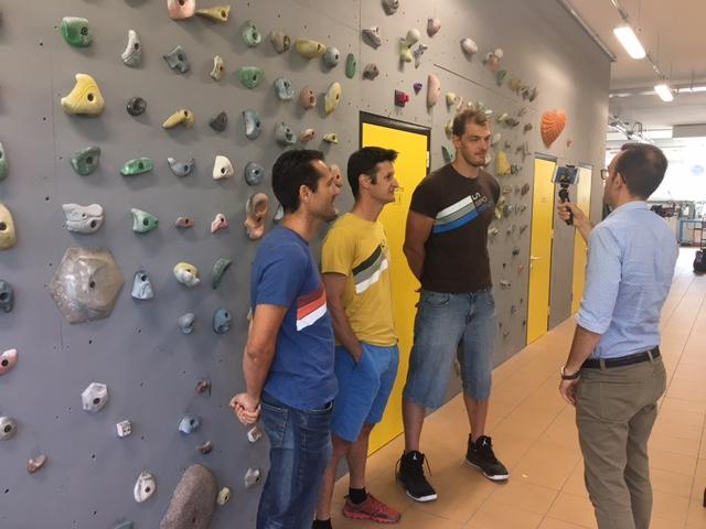Il centro vice-campione d'Italia con Dolomiti Energia Trenino Luca Lechthaler a Ziano di Fiemme presso La Sportiva