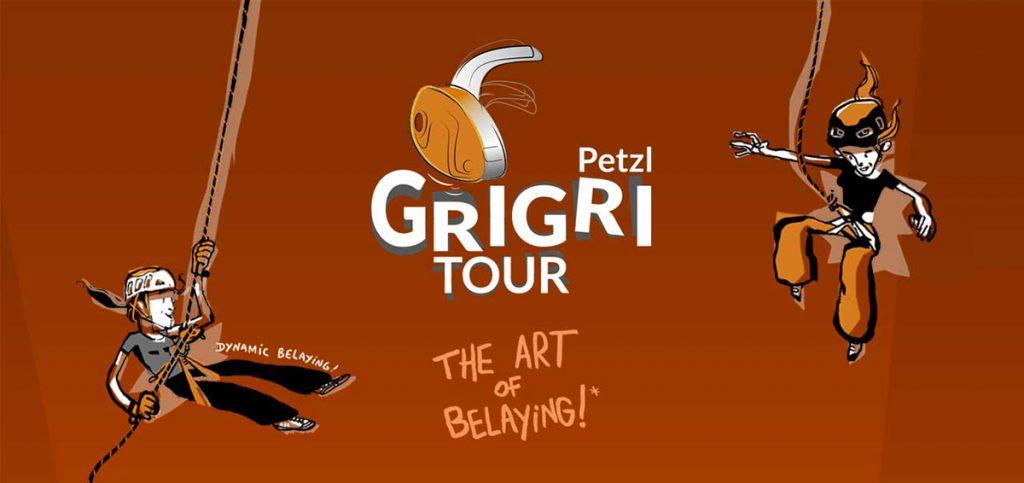 """Per tutto l'autunno del 2017 gli """"assicuratori"""" daranno spettacolo. Per onorarli, Petzl dà loro appuntamento, in tutto il mondo, nelle palestre di arrampicata partner che ospitano il Petzl GRIGRI Tour."""