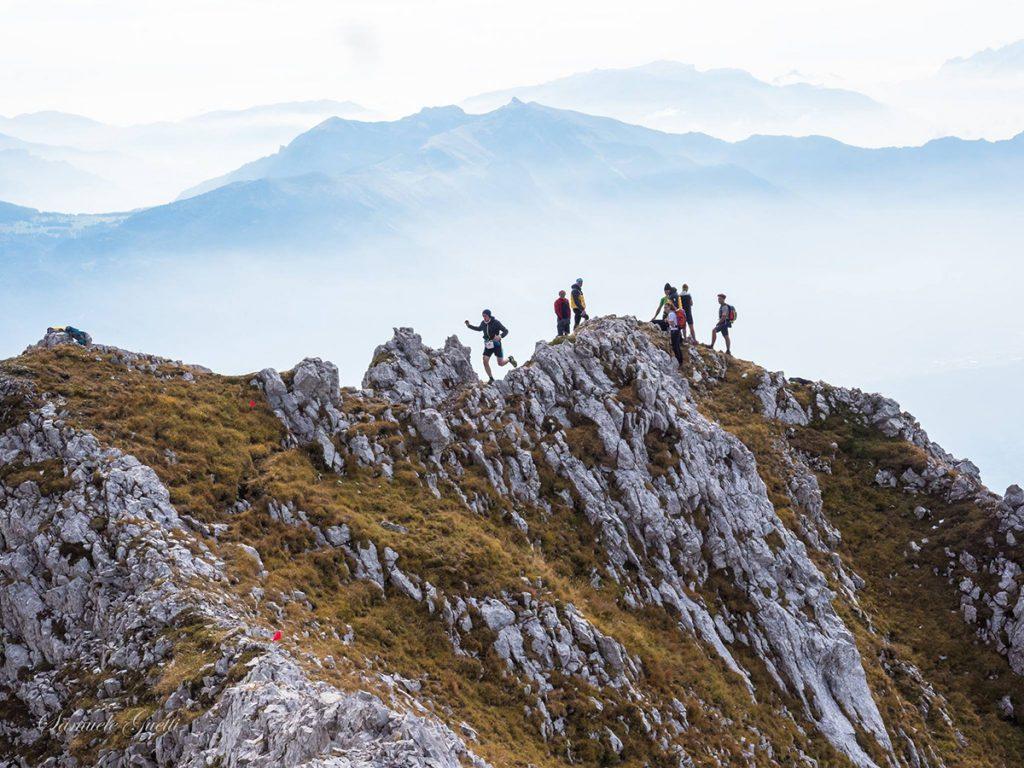 Grande successo per prima edizione di Skyghez, la spettacolare gara di trail running sponsorizzata Ferrino sulla Cima Ghez, Brenta meridionale. © Samule Guetti