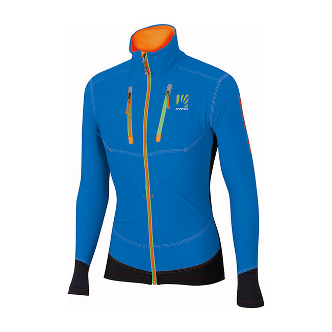 The ski touring jacket Alagna by Karpos, warm, stretchy and extremely flexible