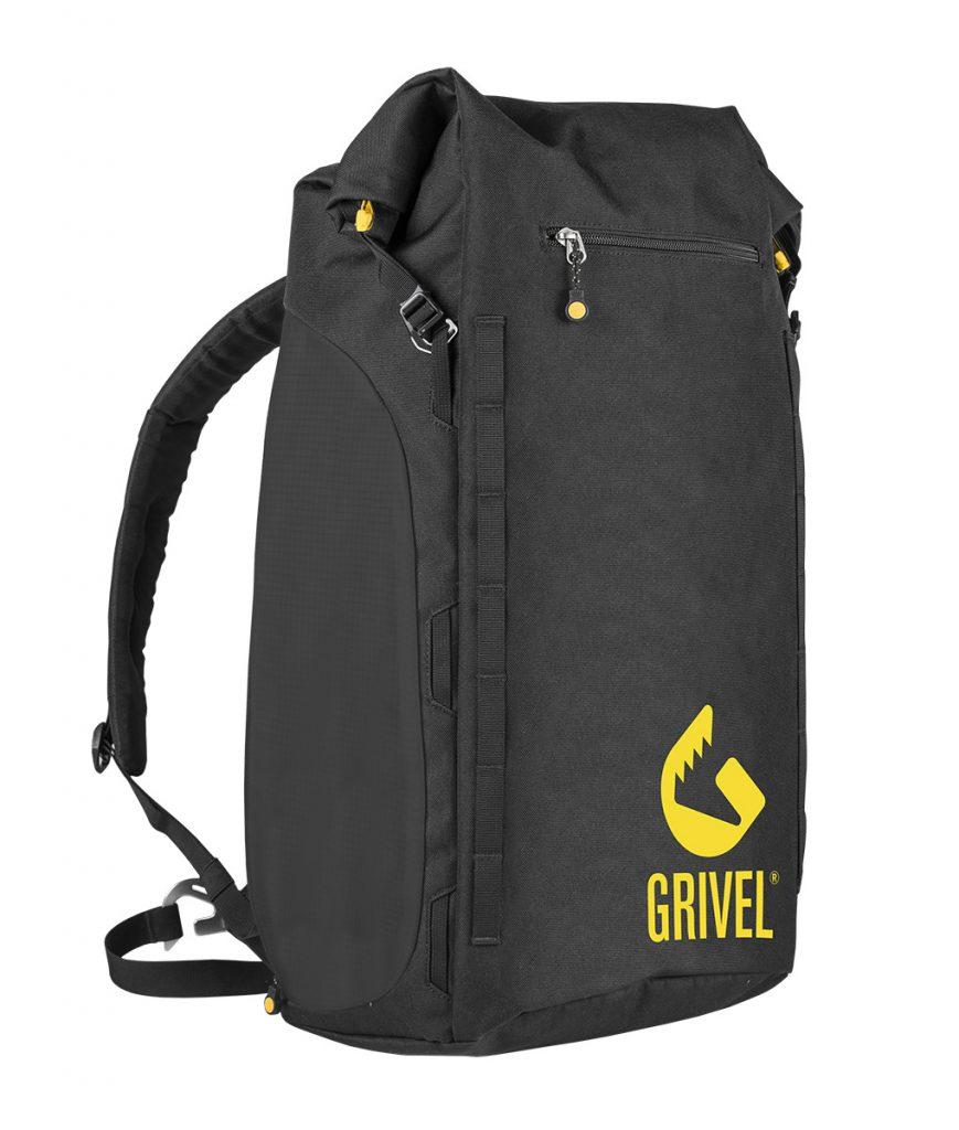 Zaino da alpinismo e arrampicata Gravity di Grivel: versatile, pulito e robusto.