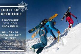 Dal 8-10 dicembre a Courmayeur (AO), il Ski Test di Scott Italia e contestualmente una escursione guidata con le guide alpine Luca Rolli e Matteo Boffi.