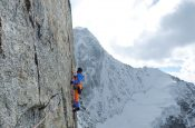 Cerro Kishtwar: a new climb has been established in the Himalaya by Mammut Pro Team alpine athlete Stephan Siegrist (SUI) and the two alpinists Julian Zanker (SUI) and Thomas Huber (GER)
